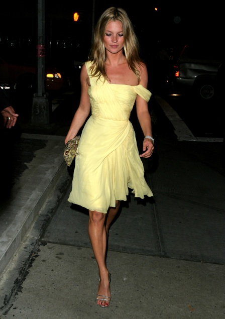 Kate Moss Style Icon - yellow dress