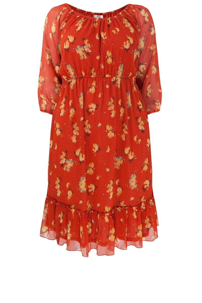 Red Floral Vintage Dress