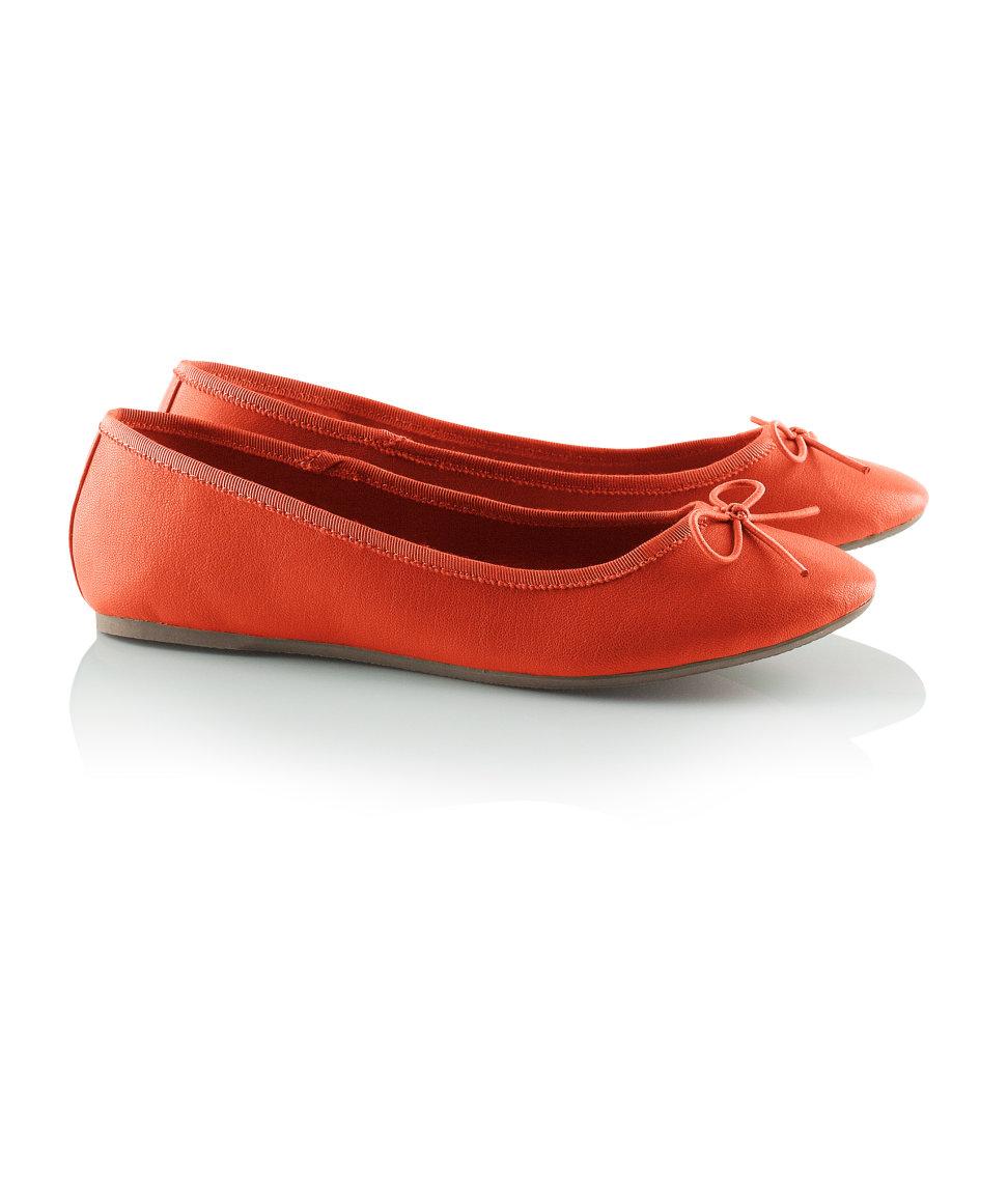 H&M balet pumps in orange £7.99; image courtesy of H&M UK
