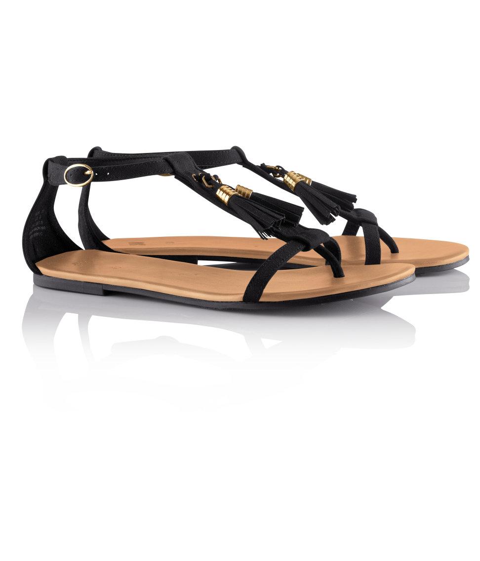 H&M black sandals £14.99; image courtesy of H&M UK