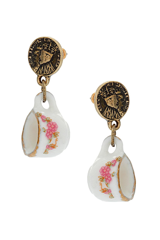 Topshop - Jubilee Coin & Cup Earrings - £6.50