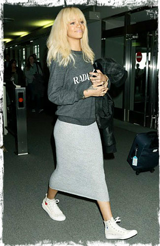 Rihanna in Sneakers