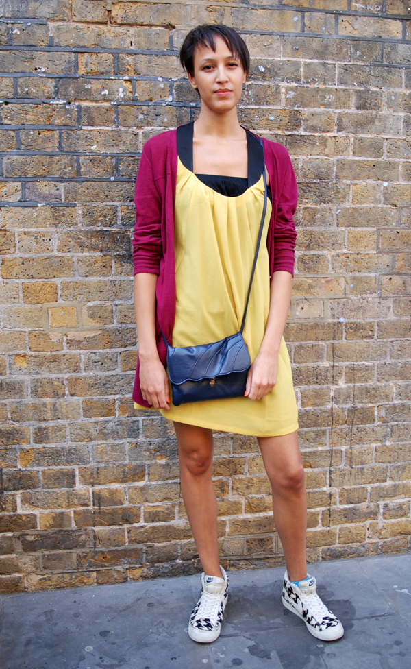 Street Style - sneakers and dress
