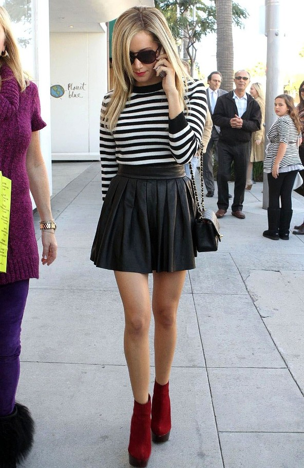 2012 Pleated Skirt - Ashley Tisdale
