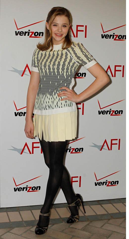 2012 Pleated Skirt - Chloe Moretz
