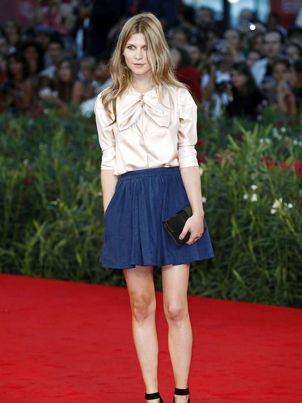 2012 Pleated Skirt - Clemence Poesy