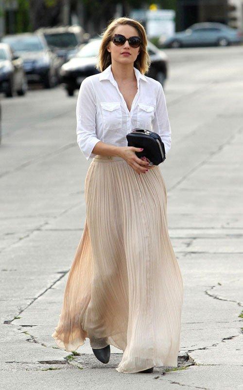 2012 Pleated Skirt - Diana Agron