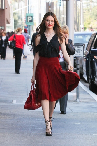 2012 Pleated Skirt - Emmy Rossum