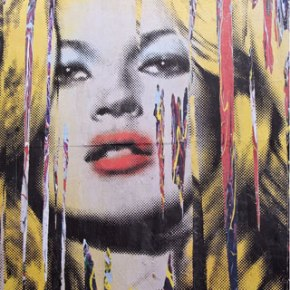 Mr. Brainwash Meets Kate Moss In Oxford Street Mural