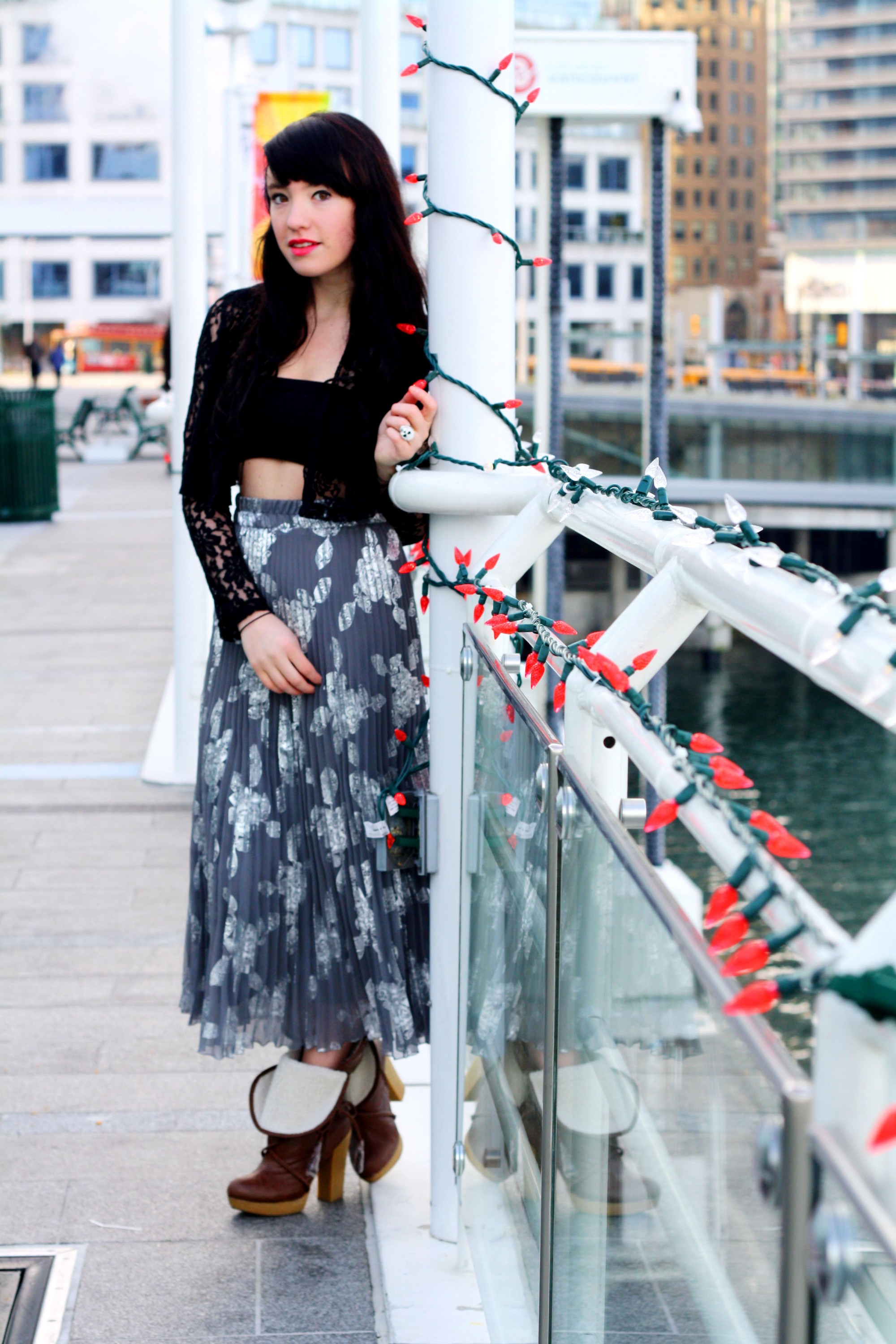 2012 Pleated Dress - Vancouver Street Style