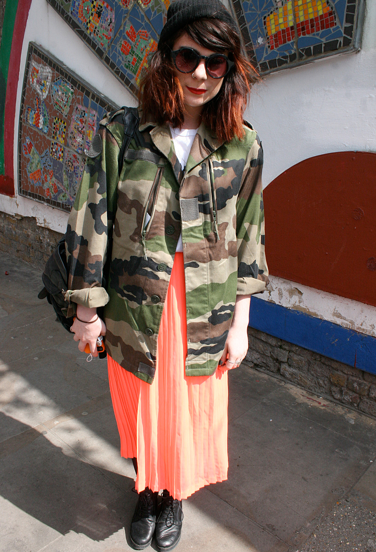 2012 Pleated Dress - London Street Style