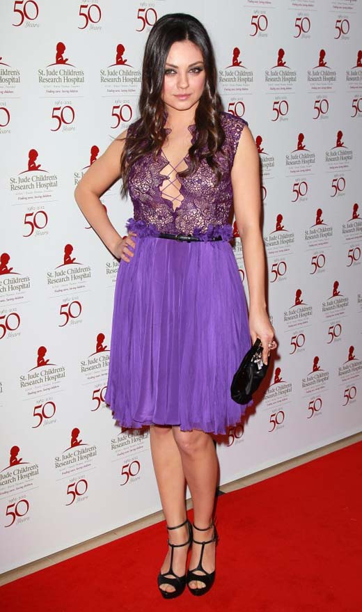 2012 Pleated Dress - Mila Kunis