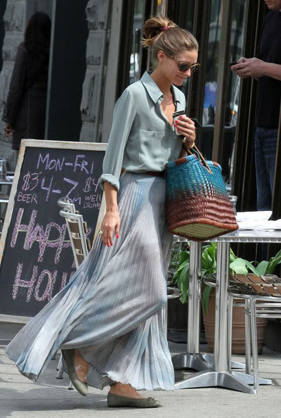 2012 Pleated Skirt - Olivia Palermo