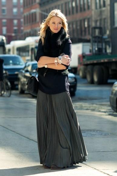 Pintrest - 2012 Pleated Skirt - Street Style