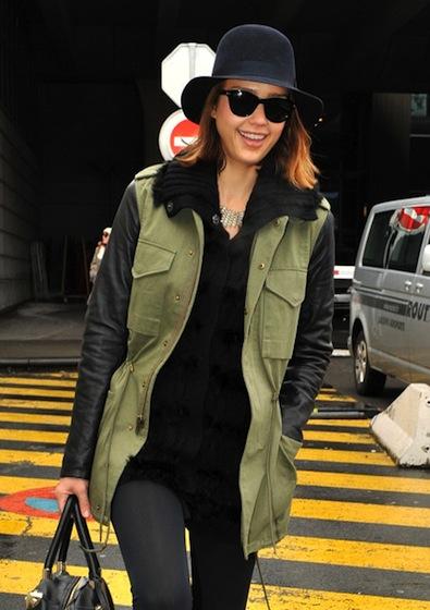 Jessica Alba army jacket