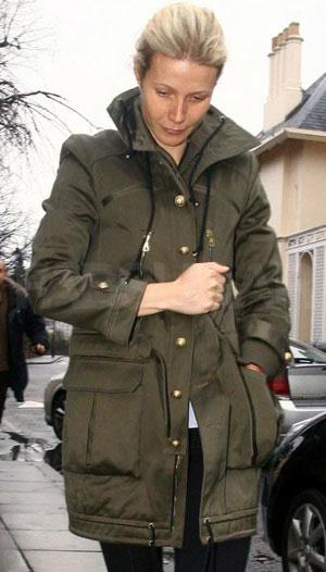 Gwyneth Paltrow in army jacket