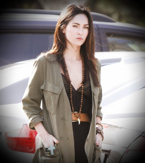 Megan Fox in Military Jacket