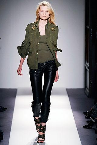 military jacket on runway