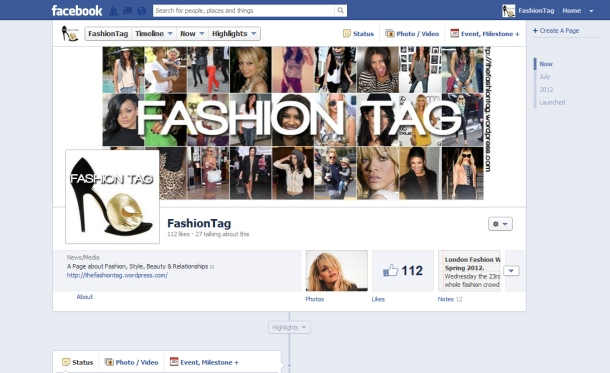 FashionTag Facebook page