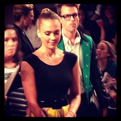 Backstage London Fashion Week - Jessica Alba