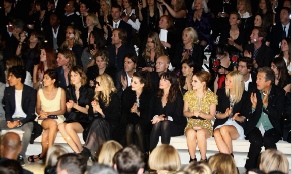 London Fashion Week, Spring 2013 - Burberry Front Row