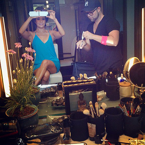 2012 Emmy Awards - Carrie Ann getting ready for red carpet, Instagram