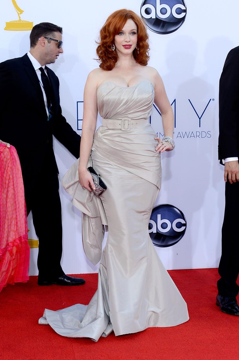 Christina Hendriks - 2012 Emmy Awards, Red Carpet Looks