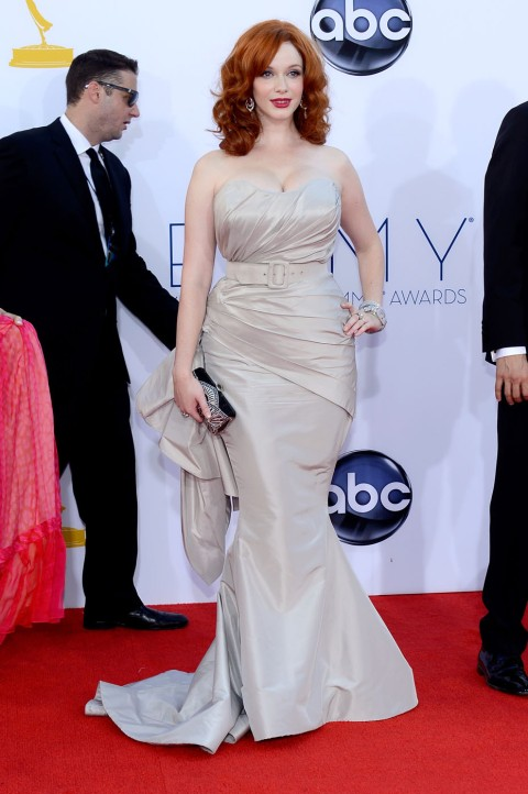 Christina Hendriks - 2012 Emmy Awards, Red Carpet Looks
