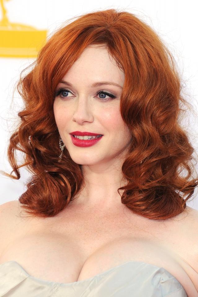 Christina Hendriks makeup & hair - 2012 Emmy Awards