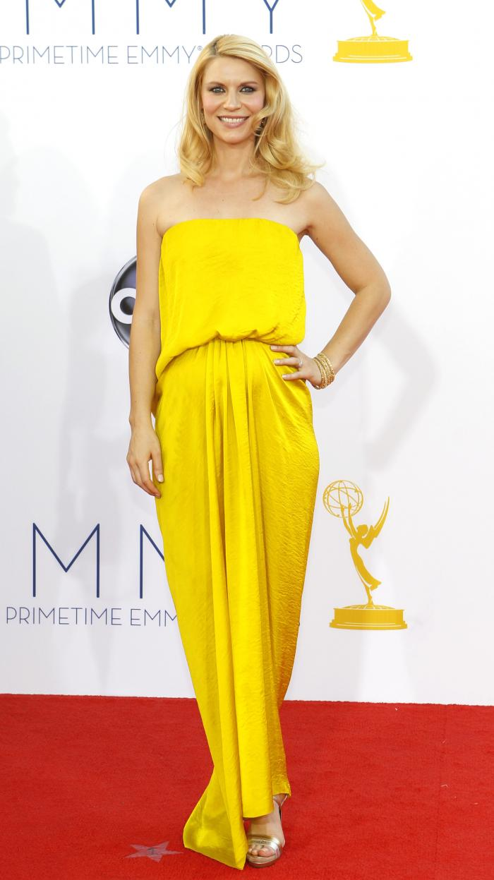Claire Danes - 2012 Emmy Awards, Red Carpet Looks