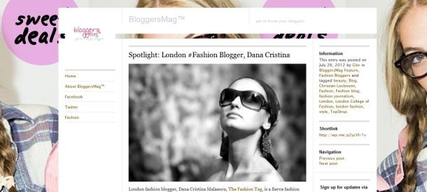 Dana Cristina Malaescu, Fashion Editor - Interview for BloggersMag