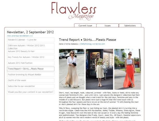 article by Dana Cristina Malaescu, fashion journalist for Flawless-Magazine