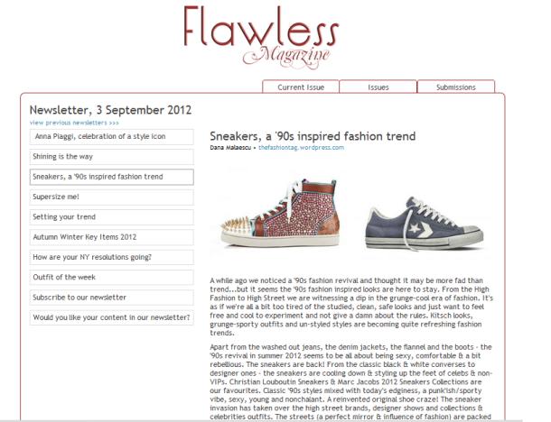article by Dana Cristina Malaescu, fashion journalist at Flawless-Magazine
