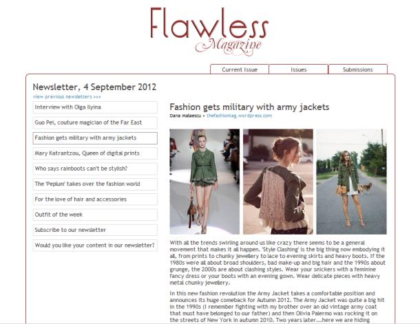 article by Dana Cristina Malaescu, FashionTag; fashion journalist for Flawless-Magazine