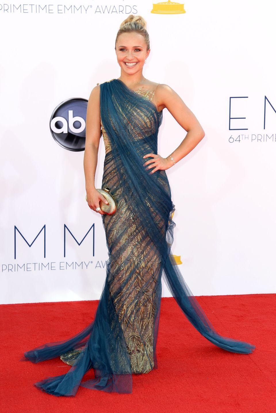 Hayden Panattiere - 2012 Emmy Awards, Red Carpet Looks