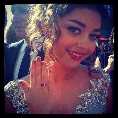 Sarah Hyland makeup & hair Instagram  - 2012 Emmy Awards