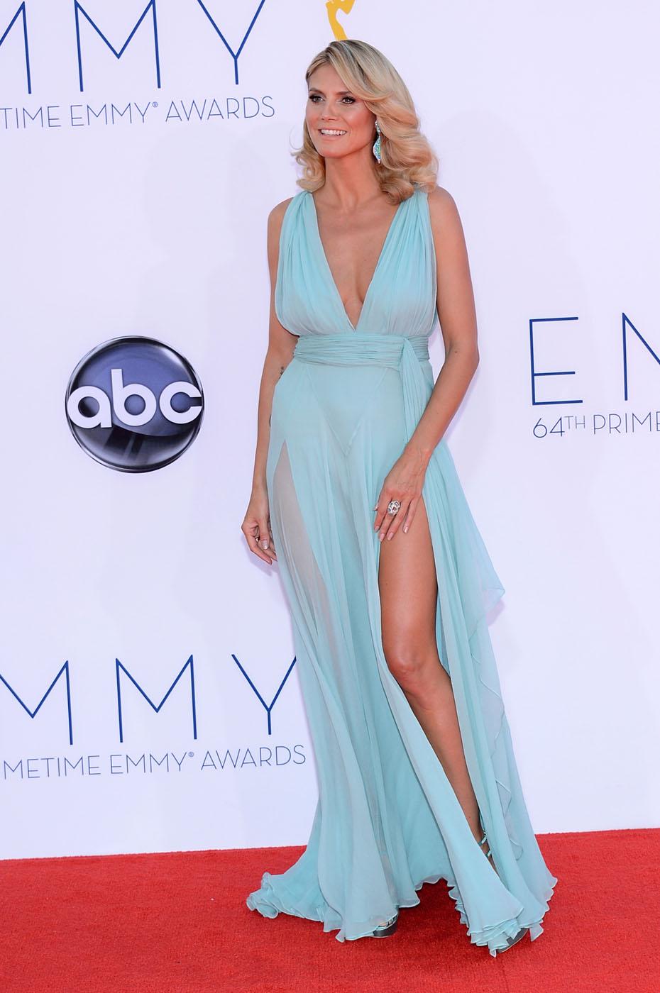 Heidi Klum - 2012 Emmy Awards, Red Carpet Looks