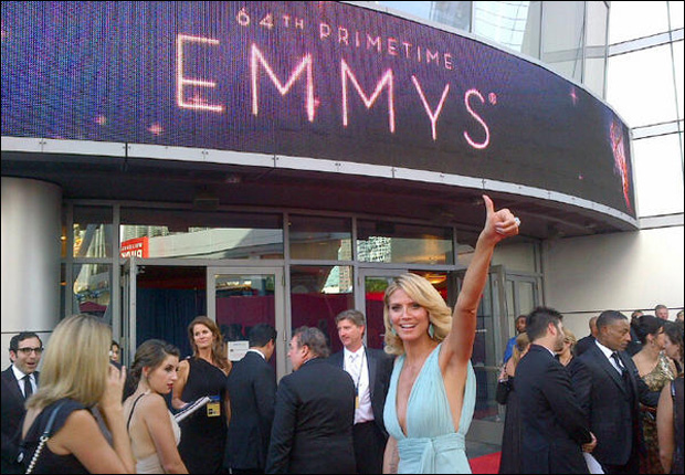 Heidi Klum - 2012 Emmy Awards, photo from red carpet arrival