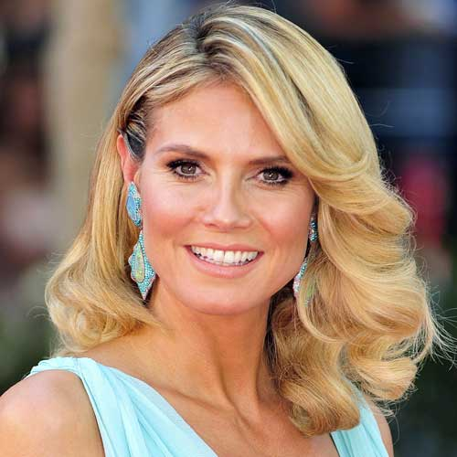 Heidi Klum makeup & hair  - 2012 Emmy Awards