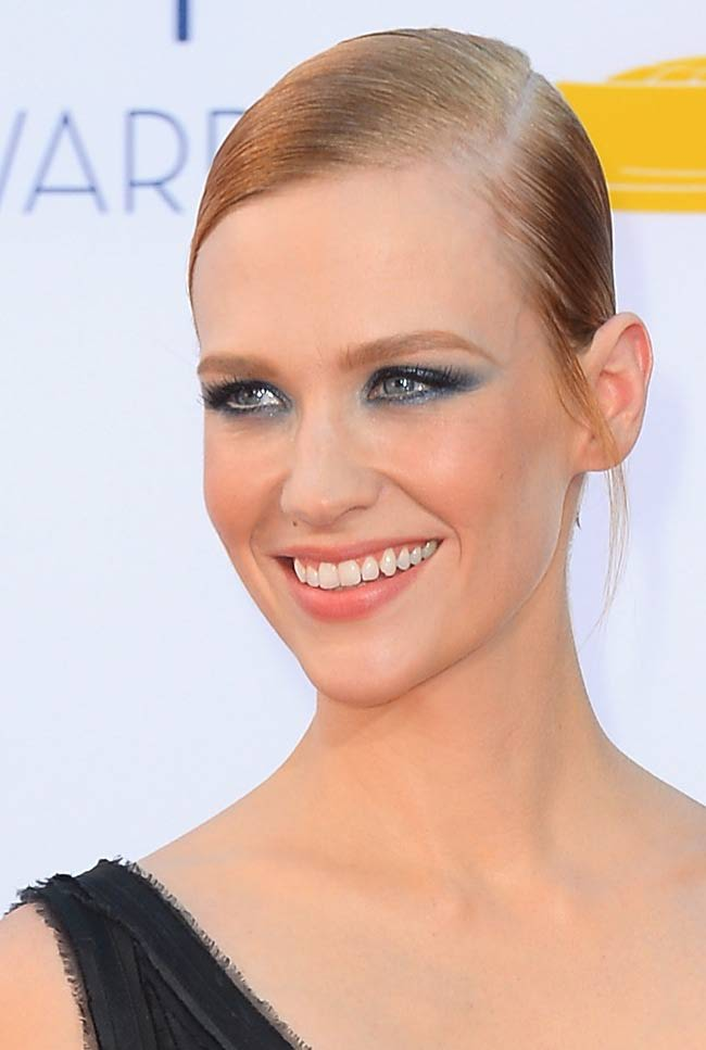 January Jones - 2012 Emmy Awards makeup & hair