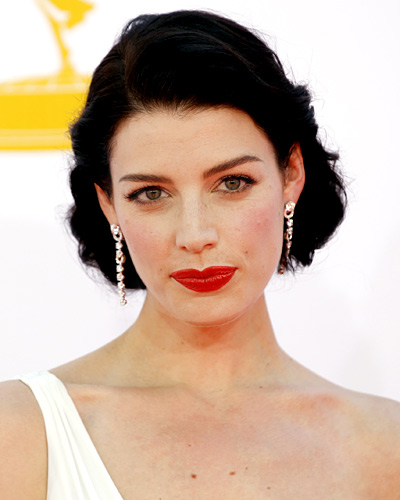 Jessica Pare makeup & hair - 2012 Emmy Awards