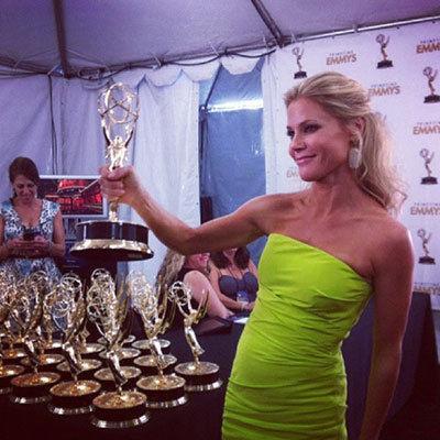 Julie Bowen makeup & hair, Instagram - 2012 Emmy Awards