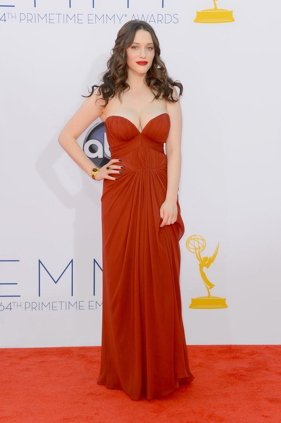 Kat Dennings  - 2012 Emmy Awards, Red Carpet Looks