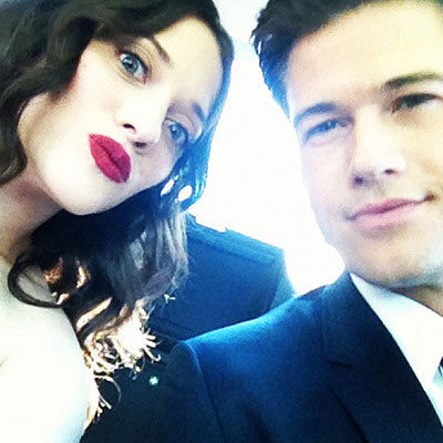 Kat Dennings makeup & hair, Instagram - 2012 Emmy Awards