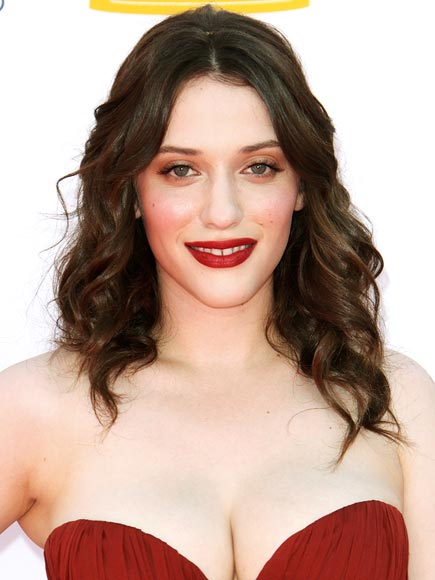 Kat Dennings makeup & hair - 2012 Emmy Awards