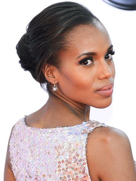Kerry Washington makeup & hair - 2012 Emmy Awards