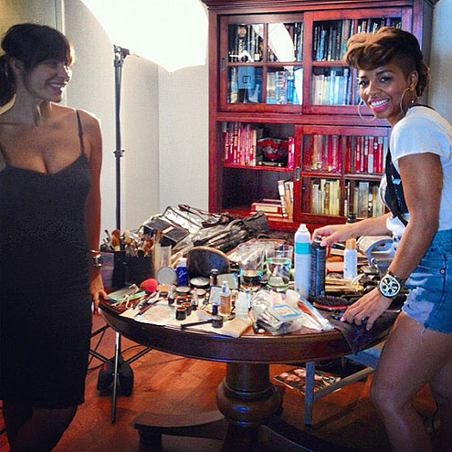 2012 Emmy Awards - Kerry Washington Instagram, getting ready for the red carpet