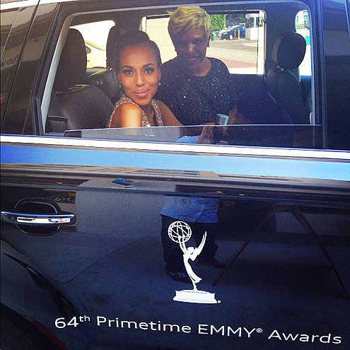 Kerry Washington on the way to The 2012 Emmy Awards