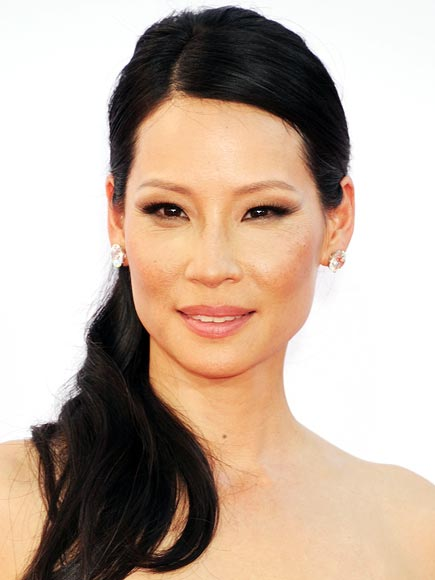 Lucy Liu makeup & hair - 2012 Emmy Awards
