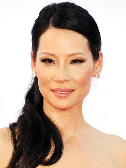 Lucy Liu makeup & hair - 2012 Emmy Awards